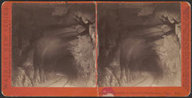 """Interior Tunnel No. 3, Columbia River Scenery, O'gn."" (Stereograph E21)"