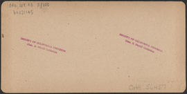 "Verso of, ""Rooster Rock, Columbia River, Oregon"" (Stereograph E29)"