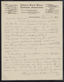 Letter from Abigail Scott Duniway to Mrs. Lucia Fulton Isaacs