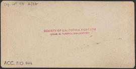 "Verso of, ""At Port Blakeley, Puget Sound, W. T."" (Stereograph 5236)"