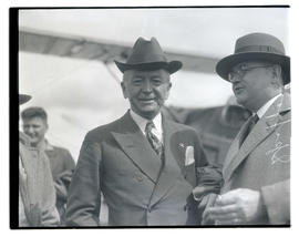 E. E. Spafford and unidentified man at Pearson Field