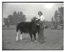 Woman with steer