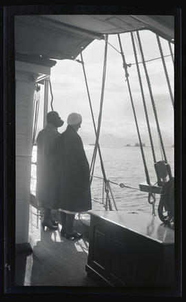 Women on the deck of the MV Westward