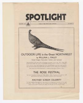 "Advertisement for ""Outdoor life in the great northwest"" lecture"