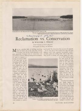 """Reclamation vs. conservation"""