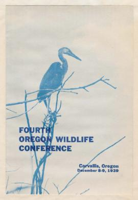 Program for 4th Oregon Wildlife Conference