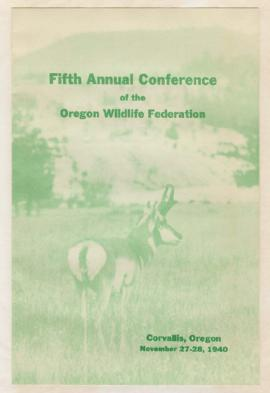 Program for 5th Oregon Wildlife Federation Annual Conference