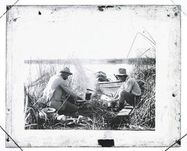 Cooking in Pelican Camp