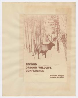 Program for 2nd Oregon Wildlife Conference in Corvallis
