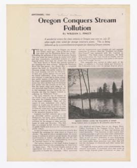 """Oregon conquers stream pollution"""