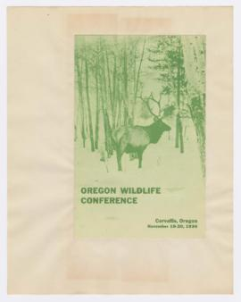 Program for Oregon Wildlife Conference in Corvallis