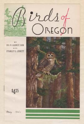 "Advertisement for ""Birds of Oregon"", featuring William Finley photographs"
