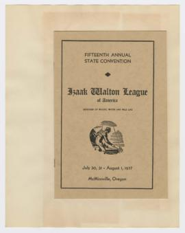 Program for 15th Annual Izaak Walton League State Convention