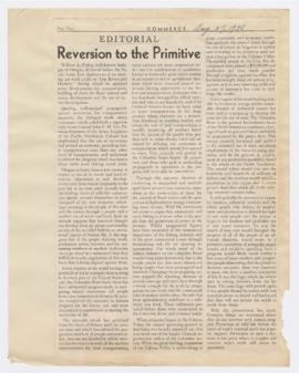 Editorial discussing William Finley's perspective on development of waterways