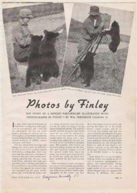 Article discussing careers of William and Irene Finley