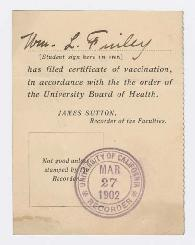 Certification of vaccination
