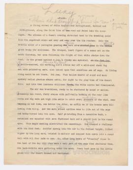 Article draft, 1926