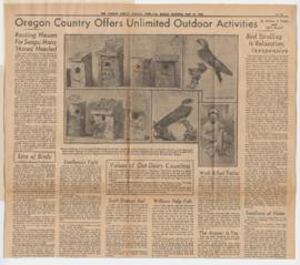 Articles authored by William Finley and Ed F. Averill discussing Oregon wildlife